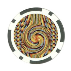 Gold Blue And Red Swirl Pattern Poker Chip Card Guards (10 Pack)