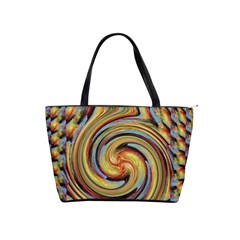 Gold Blue and Red Swirl Pattern Shoulder Handbags