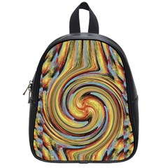 Gold Blue and Red Swirl Pattern School Bags (Small)