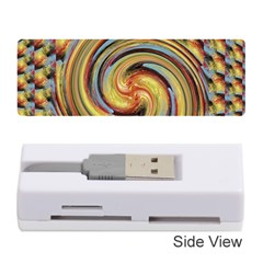 Gold Blue and Red Swirl Pattern Memory Card Reader (Stick)