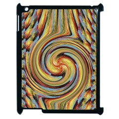 Gold Blue And Red Swirl Pattern Apple Ipad 2 Case (black)