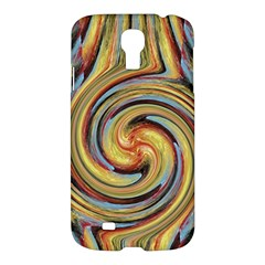 Gold Blue and Red Swirl Pattern Samsung Galaxy S4 I9500/I9505 Hardshell Case