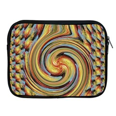Gold Blue and Red Swirl Pattern Apple iPad 2/3/4 Zipper Cases