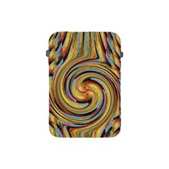 Gold Blue and Red Swirl Pattern Apple iPad Mini Protective Soft Cases