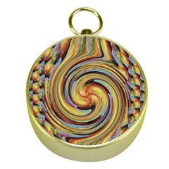 Gold Blue and Red Swirl Pattern Gold Compasses