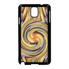 Gold Blue and Red Swirl Pattern Samsung Galaxy Note 3 Neo Hardshell Case (Black)