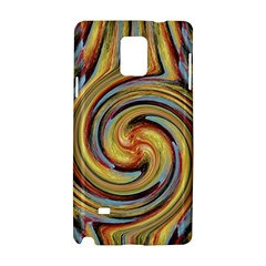 Gold Blue and Red Swirl Pattern Samsung Galaxy Note 4 Hardshell Case
