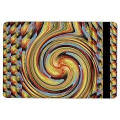 Gold Blue and Red Swirl Pattern iPad Air 2 Flip