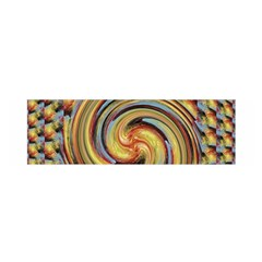 Gold Blue And Red Swirl Pattern Satin Scarf (oblong)