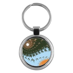 Sun-Ray Swirl Design Key Chains (Round)