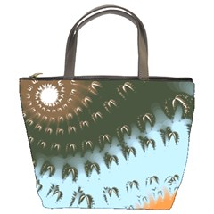 Sun-Ray Swirl Design Bucket Bags