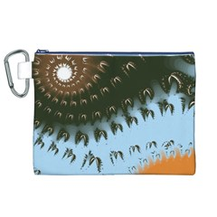 Sun Ray Swirl Design Canvas Cosmetic Bag (xl)