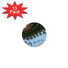 Sun Ray Swirl Design 1  Mini Buttons (10 Pack)