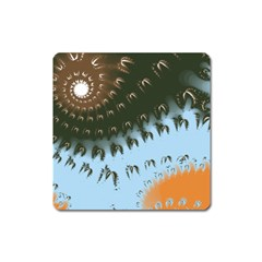 Sun-Ray Swirl Design Square Magnet