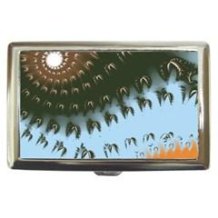 Sun Ray Swirl Design Cigarette Money Cases