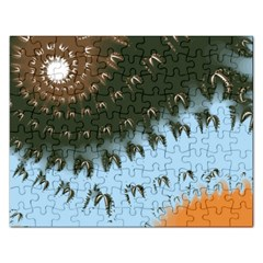 Sun Ray Swirl Design Rectangular Jigsaw Puzzl