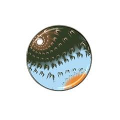 Sun Ray Swirl Design Hat Clip Ball Marker (10 Pack)