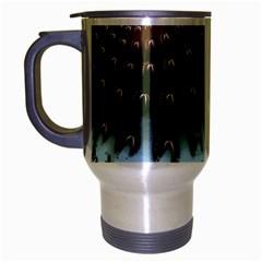 Sun-Ray Swirl Design Travel Mug (Silver Gray)