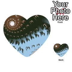 Sun-Ray Swirl Design Multi-purpose Cards (Heart)