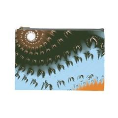 Sun Ray Swirl Design Cosmetic Bag (large)