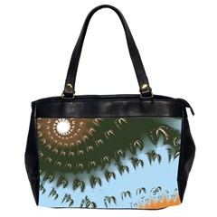 Sun Ray Swirl Design Office Handbags (2 Sides)