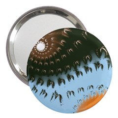 Sun-Ray Swirl Design 3  Handbag Mirrors