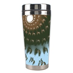 Sun Ray Swirl Design Stainless Steel Travel Tumblers