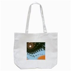 Sun Ray Swirl Design Tote Bag (white)