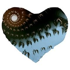 Sunraypil Large 19  Premium Flano Heart Shape Cushions