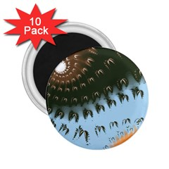 Sun-Ray Swirl Pattern 2.25  Magnets (10 pack)