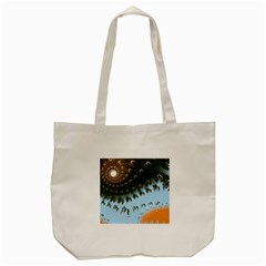 Sun Ray Swirl Pattern Tote Bag (cream)