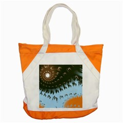 Sun Ray Swirl Pattern Accent Tote Bag