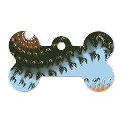 Sun Ray Swirl Pattern Dog Tag Bone (two Sides)