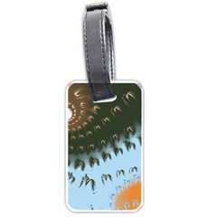 Sun Ray Swirl Pattern Luggage Tags (one Side)