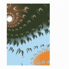 Sun Ray Swirl Pattern Small Garden Flag (two Sides)