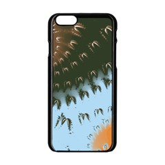 Sun-Ray Swirl Pattern Apple iPhone 6/6S Black Enamel Case