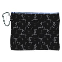 Surfing Motif Pattern Canvas Cosmetic Bag (XXL)