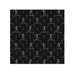 Surfing Motif Pattern Small Satin Scarf (Square)