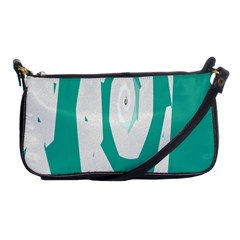 Aqua Blue And White Swirl Design Shoulder Clutch Bags