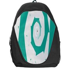 Aqua Blue and White Swirl Design Backpack Bag
