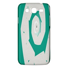 Aqua Blue and White Swirl Design Samsung Galaxy Mega 5.8 I9152 Hardshell Case