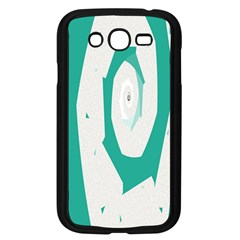 Aqua Blue and White Swirl Design Samsung Galaxy Grand DUOS I9082 Case (Black)
