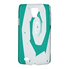 Aqua Blue and White Swirl Design Galaxy S4 Active