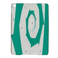Aqua Blue And White Swirl Design Ipad Air 2 Hardshell Cases