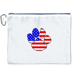 Usa Flag Paw Canvas Cosmetic Bag (XXXL)