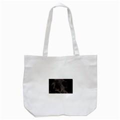 Black German Shepherd Eyes Tote Bag (White)