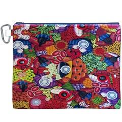 Guatemala Art Painting Naive Canvas Cosmetic Bag (XXXL)