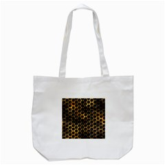 Hexagon Honeycomb Grid Pattern Tote Bag (White)