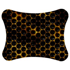 Hexagon Honeycomb Grid Pattern Jigsaw Puzzle Photo Stand (Bow)