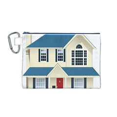 House Residence Blue Canvas Cosmetic Bag (M)